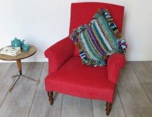 Fauteuil anglais :: rouge stone washed !